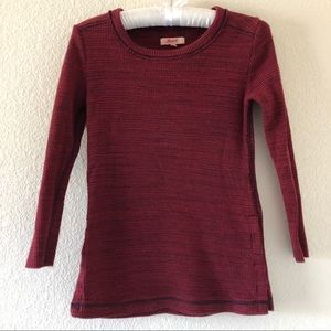 Madewell Thermal Side Button Top Maroon Size XS